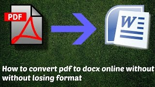 How To Convert Pdf To Docx Online Without Losing Format   Pdf To Word