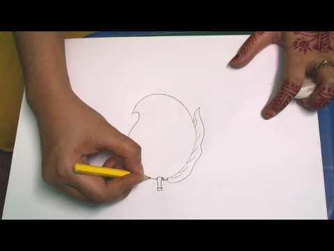 Download How to Draw a  very easy and simple Mango for kids🙂🙂🙂 HD Mp4 3GP Video and MP3