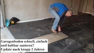 Update 5: Garagenboden schnell, einfach und haltbar sanieren? PVC-Fliesen nach knapp 2 Jahren
