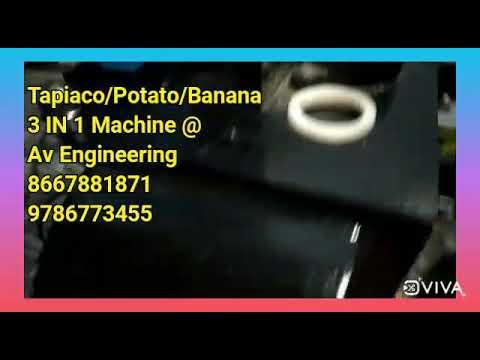 3 In 1 Banana /Potato/Tapioca /Chips Making Machine