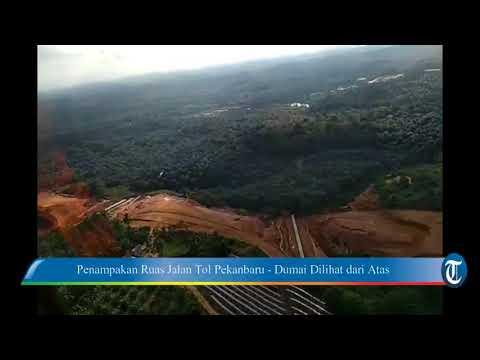 Indahnya Penampakan Ruas Jalan Tol Pekanbaru   Dumai Dilihat dari Atas