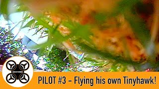 Game of Drones - Pilot #3 - First FPV quad flight in his own TinyHawk 2!