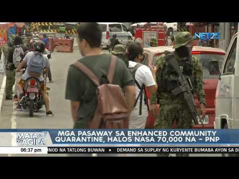 [EagleNewsPH]  Mga pasaway sa community quarantine, halos nasa 70,000 na -PNP