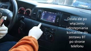 Toyota Corolla E12 2001r. - Zamiana Radia Na Odtwarzacz Multimedialny .