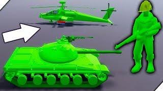 СОЛДАТИКИ ПРОТИВ ТАНКА И ВЕРТОЛЕТА - Attack on Toys Игра про игрушки Война игрушек солдатиков