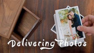 Delivering Photos To Clients  Prints + Wood Box!