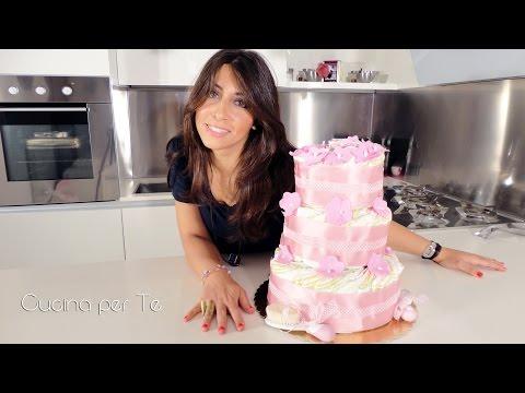 Torta di Pannolini - Diaper Cake - Tutorial