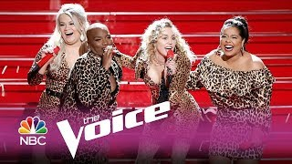 "Miley Cyrus - Man! I Feel Like a Woman (Shania Twain Cover) feat. The Voice ""Team Miley"""