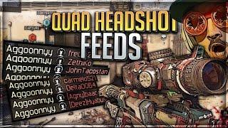 I HIT 2 QUAD HEADSHOT FEEDS?! (BO3 Clips & Fails)