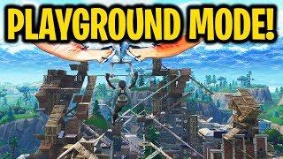 NEW WEAPONS & PLAYGROUND MODE!! (Dakotaz, NoahJ456, HighDistortion New Fortnite Playground Gameplay)