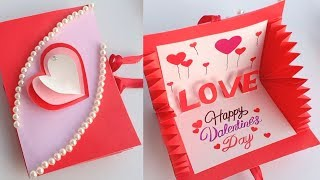 How To Make Valentines Day Card // Handmade Easy Card Tutorial