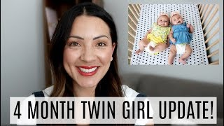 4 MONTH TWIN GIRL UPDATE!