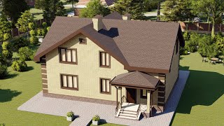 Проект дома 170-B, Площадь дома: 170 м2, Размер дома:  12,9x9,7 м