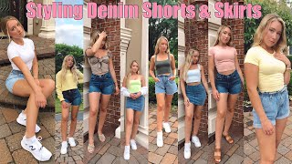 How To Style Denim Shorts & Skirts || Casual Summer Outfits 2020