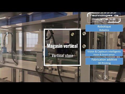 Magasin vertical et AGV