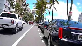 preview picture of video 'Ala Wai Canal bike ride on the boulevard - July 6, 2014 Waikiki Oahu Hawaii'