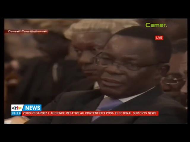 Grégoire Owona au conseil constitutionnel pour défendre la victoire du RDPC