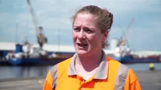 Maintenance Technician, Grace Davitt talks about her time working at Belfast Harbour