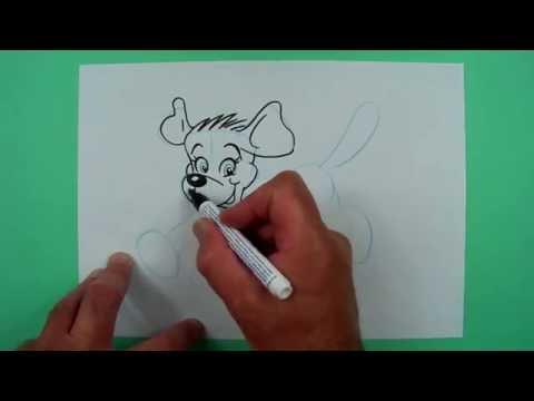 Wie zeichnet man einen laufenden Hund? Zeichnen für Kinder