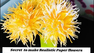 Secret To Make Realistic Paper Flowers || Coffee Filter Flowers