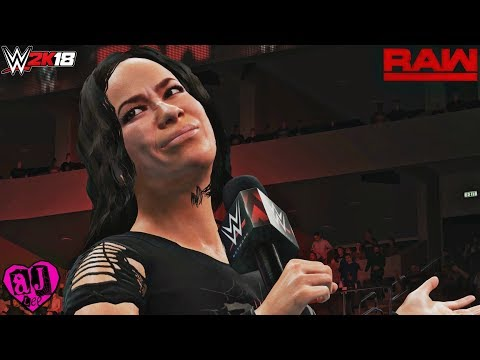 WWE 2K18 Custom Story: AJ Lee Returns & Wins the RAW Women's Championship vs Alexa Bliss (PC Mods)