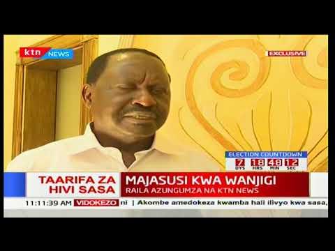 Raila na Wanjigi wazungumza baada ya majasusi kuingia kwa Jimmy Wanjigi