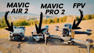 DJI Camera Ultimate Camera Comparison | FPV + Mavic 2 Pro + Air 2