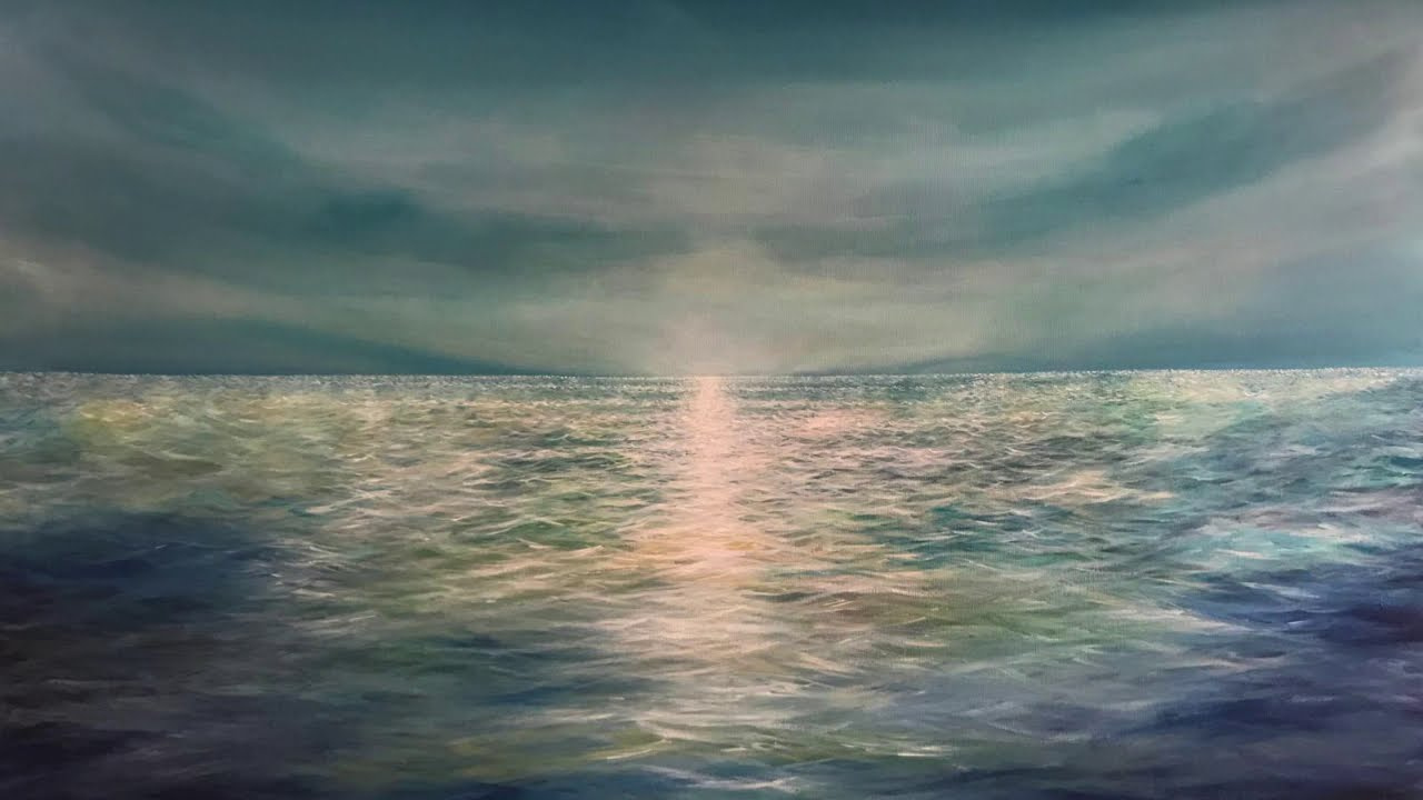 Painting Time Lapse – Beautiful calming Ocean