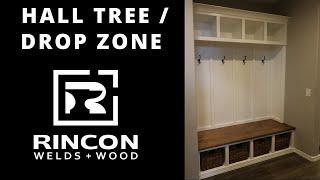 HALL TREE / DROP ZONE BUILT IN