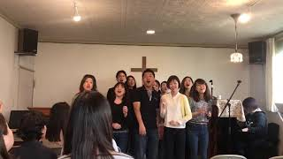 Gospel choir ``Noah's ark`` came to our church!!