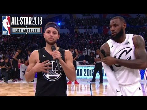 LeBron James & Stephen Curry Address the Crowd   2018 NBA All-Star Game
