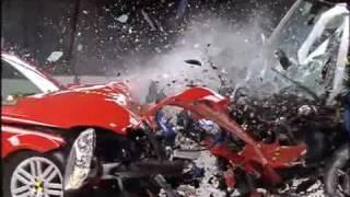 IIHS Crash Test Of Mercedes C300 Versus Smart ForTwo video thumbnail