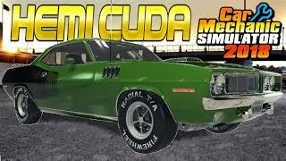 Plymouth Hemi Cuda Restoration! - Car Mechanic Simulator 2018 Gameplay - Livestream