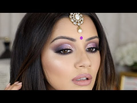 PURPLE CUT CREASE 💜 DIWALI MAKEUP TUTORIAL 2017 ✨