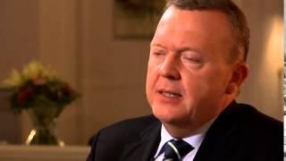 Lars Løkke i et interview med DR2-studieværten Nynne Bjerre Christensen, der blev sendt på DR2 onsda