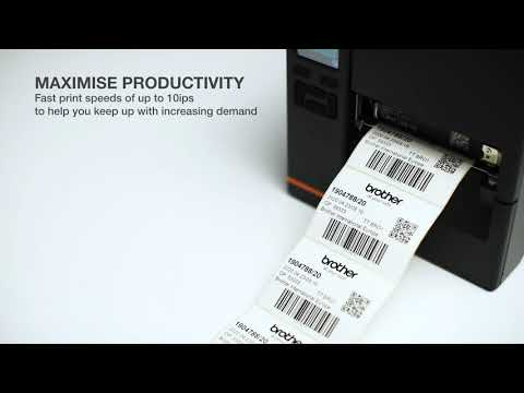Brother TJ Series Industrial label printer video thumbnail