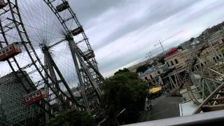 preview picture of video 'Vienna's largest rollercoaster Super 8 - Sightseeing with Dick McJohnnson'