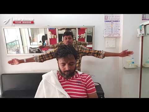 Intense neck cracking head massage by Vikram   Indian Massage