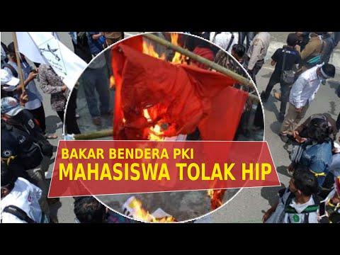 VIDEO - Mahasiswa Aceh Barat Bakar Bendera PKI