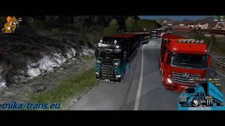 Mika TransCZ konvoj na Promods II. 26.10.2019