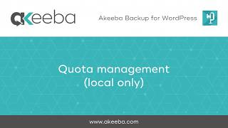 Watch a video on Quota Management (local only) [02:46]