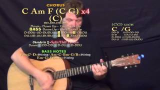 Locked Away (R. City) Guitar Lesson Chord Chart - Capo 1st