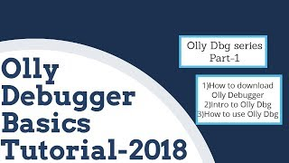 Ollydbg tutorial [2019] ollydbg cracking tutorial series + ollydbg download [Part 1]