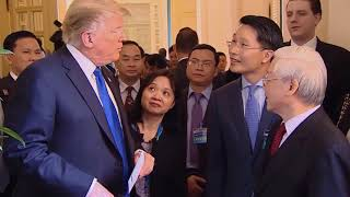 Tổng thống Trump gặp Tổng Bí thư Chủ tịch nước Nguyễn Phú Trọng