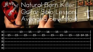 Natural Born Killer Guitar Lesson Lesson - Avenged Sevenfold (with tabs)
