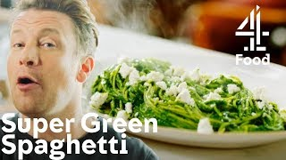 Cooking A SUPER HEALTHY Green Spaghetti With Only 5 Ingredients! | Jamies Quick & Easy Food