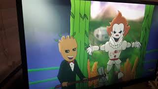Me,my friend, and my little sister react to verbalase Pennywise vs. Groot
