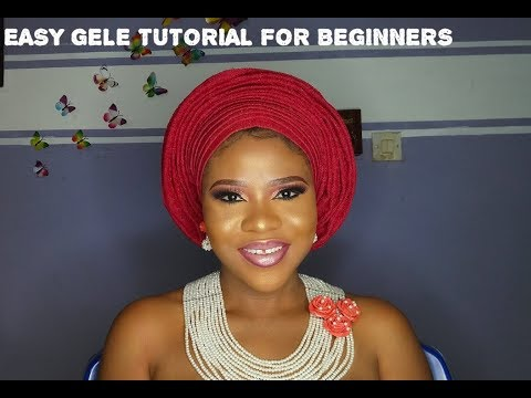 GELE tutorial for beginners// how to tie a gele
