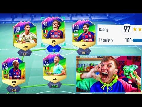 197 RATED FULL RAINBOW FUT DRAFT!! (FIFA 19)