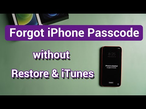 Forgot iPhone Passcode without Restore & iTunes